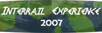 InterRail Expérience 2007